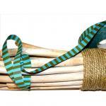 Ringelband, türkis-grün