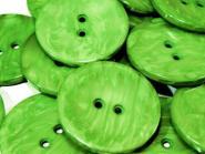 5 große Knöpfe meliert grün