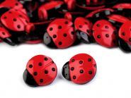 10 Knöpfe Marienkäfer rot schwarz
