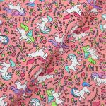 Jerseystoff Pferd Pegasus rosa