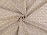 Baumwollstoff Punkte 2-3mm beige