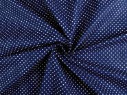Baumwollstoff Punkte 2-3mm dunkelblau