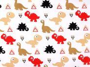 Baumwollstoff mit Kindermotiv Kinderstoff Dino Dinostoff