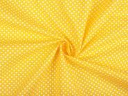 Baumwollstoff Punkte 2-3mm sonnengelb