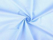 Baumwollstoff Punkte 2-3mm hellblau