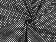 Baumwollstoff Punkte 2-3mm schwarz