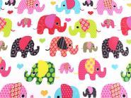 Baumwollstoff Elefanten Elefantenstoff pink