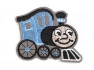 Applikation Lokomotive hellblau