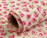 Dekostoff kleine Blüten pink