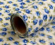Dekostoff kleine Blüten blau