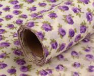 Dekostoff kleine Blüten violett