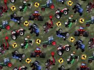 Jerseystoff Traktor khaki