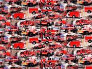 Jerseystoff Feuerwehr rot