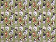 Jerseystoff Dogs grünolive