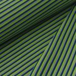 Jerseystoff Streifen petrol grün