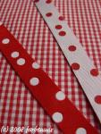 Punkteband, rot-weiß