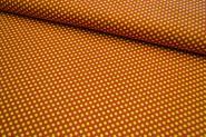 Baumwollstoff Punkte terracotta-gelb