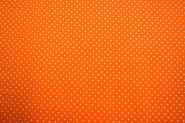 Baumwollstoff Punkte orange-weiß