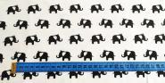 Jerseystoff Monochrome Zoo Elephant