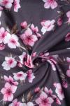 Jerseystoff Kirschblüten grau rosa
