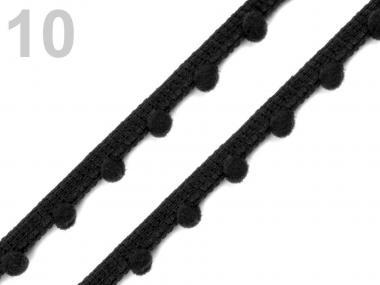 Pomponborte 7mm schwarz