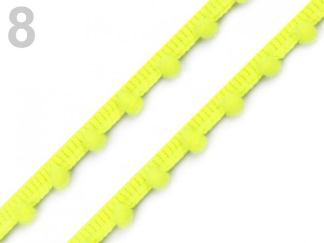 Pomponborte 7mm neongelb
